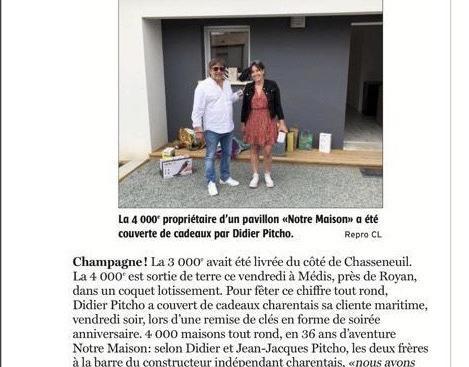 Didier PITCHO  et sa cliente,  heureux