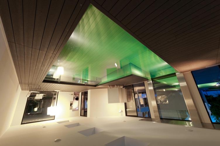 eclairage vert maison exception