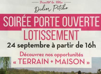 Soirée PORTE OUVERTE jeudi 24 septembre à partir de 16h ...visite explicative et sympa d'une de nos réalisations ... aux JARDINS DE LEA