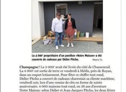 Notre 4000 ème maison livrée !!!!!!